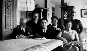 Gaya Tovar con su esposa e hijos en 1935